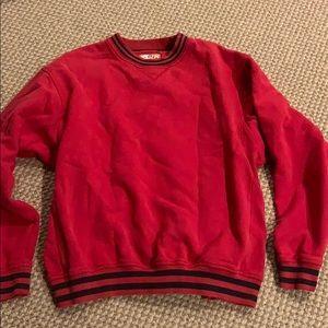 Cutter and buck red crew neck sweatshirt